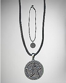 Pentagram Cord Necklace