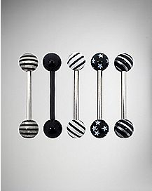 Stars & Stripes Barbell 5 Pack - 14 Gauge