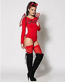Long Sleeve Devil Bodysuit