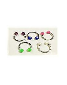 Colored Ball Horseshoe 4 Pack -16 Gauge