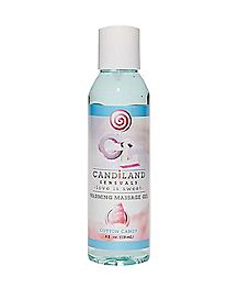 Candiland Warming Cotton Candy Flavored Massage Gel -  4 oz.