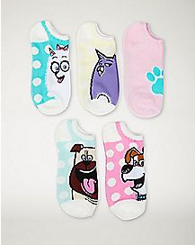 Mix & Match Life Of Pets No Show Socks 5 Piece