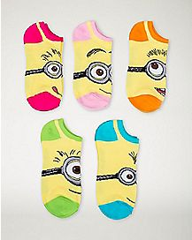 Mix & Match Minion Despicable Me No Show Socks 5 Piece
