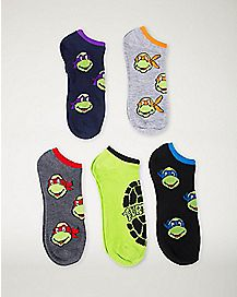Mix & Match TMNT No Show Socks 5 Pack