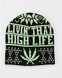 High Life Leaf Beanie