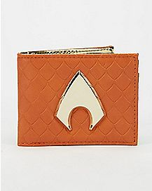 Metal Badge Aquaman Bifold Wallet
