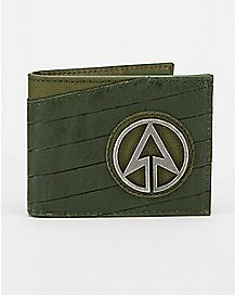 Metal Badge Arrow Bifold Wallet