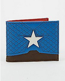 Metal Badge Captain America Bifold Wallet - Marvel Comics