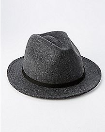 Gray Wool Fedora