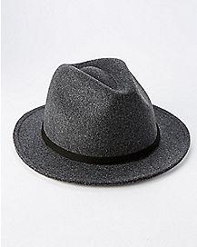 Gray Wool Fedora