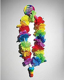 Rainbow Flower Pecker Necklace