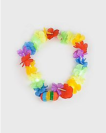 Rainbow Flower Boobie Necklace