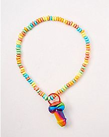 Rainbow Candy Pecker Necklace