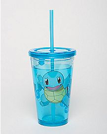 Squirtle Pokemon  Cup With Straw
