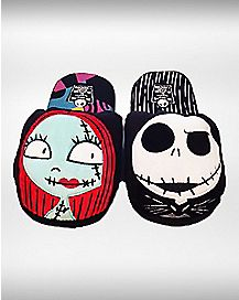 Jack and Sally Nightmare Before Christmas Slippers