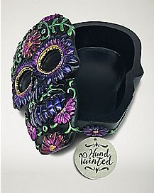 Hand Painted Skull Box