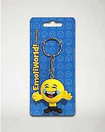 Crying Laughter Face Keychain