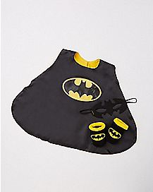 Caped Batman Baby Bib Set
