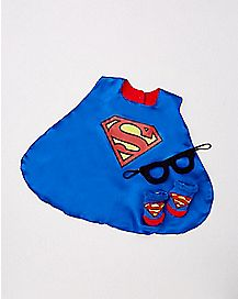 Caped Superman Baby Bib Set