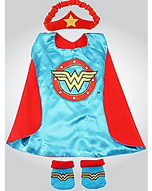 Wonder Woman Baby Bib Set