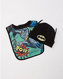 DC Comics Batman Baby Hat & Bib Set