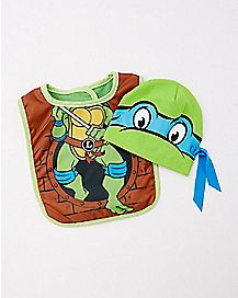 Teenage Mutant Ninja Turtle Baby Hat & Bib Set