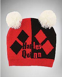 Harley Quinn Two Pom Beanie Hat