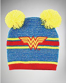 Wonder Woman Double Pom Baby Beanie - DC Comics