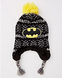 Batman Fair Isle Laplander Baby Hat - DC Comics