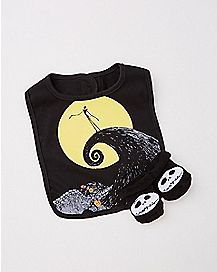 Nightmare Before Christmas Baby Bib And Booties Set