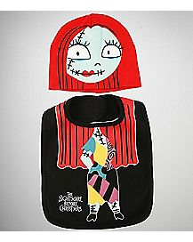 Sally Nightmare Before Christmas Baby Bib And Hat Set