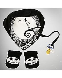 Nightmare Before Christmas Baby Bandana Bib Set