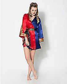 Satin Harley Quinn Suicide Squad Robe