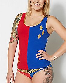 Harley Quinn Suicide Squad Tank Top and Panties Set - DC Comics