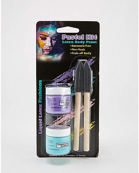 Teal purple pastel body paint 2 pack spencer 39 s for Pastel teal paint