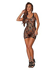 Seamless Fishnet Skull Dress
