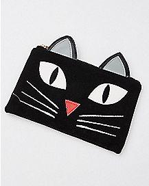 3D Cat Clutch Zip Wallet