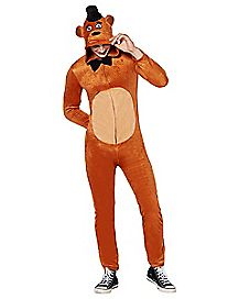 Adult Hooded Five Nights at Freddys One-Piece Pajamas