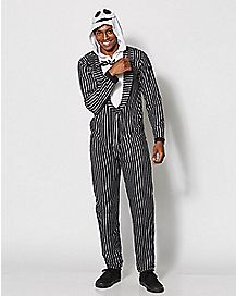 Adult Hooded Jack Skellington Onesie Pajamas