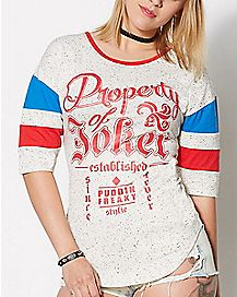 Property of Joker Raglan T Shirt - Suicide Squad