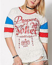 Property of Joker Suicide Squad Raglan T Shirt