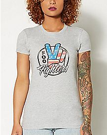 Peace Foo Fighters T shirt