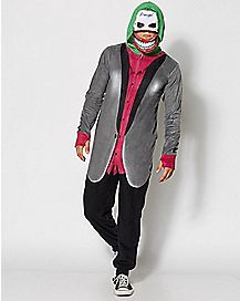 Dropseat Hooded Joker Suicide Squad Pajama Costume - DC Comics