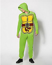 Adult Hooded Dropseat Teenage Mutant Ninja Turtle Onesie Pajamas