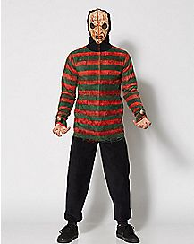 Adult Hooded Drop Seat Nightmare on Elm Street One-Piece Pajamas