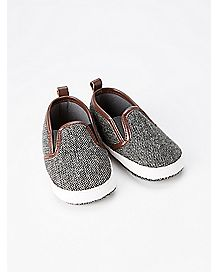 Grey Slip On Baby Shoes