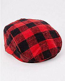 Plaid Cabbie Toddler/Baby Hat