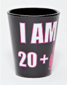 20 Plus Finger Shot Glass 1.5 oz