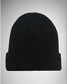 Black Cuff Beanie Hat