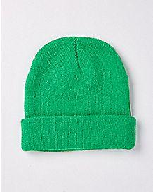Green Cuff Beanie